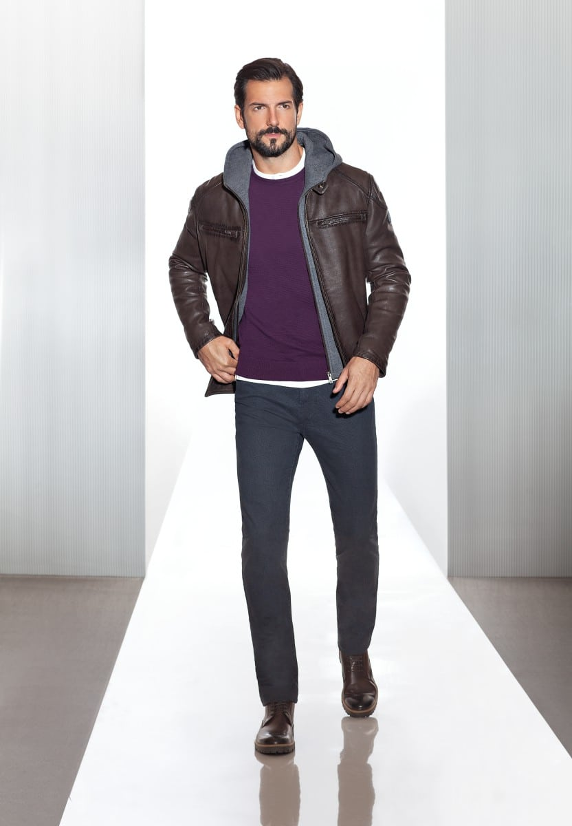 Leather combinations for a stylish attire.